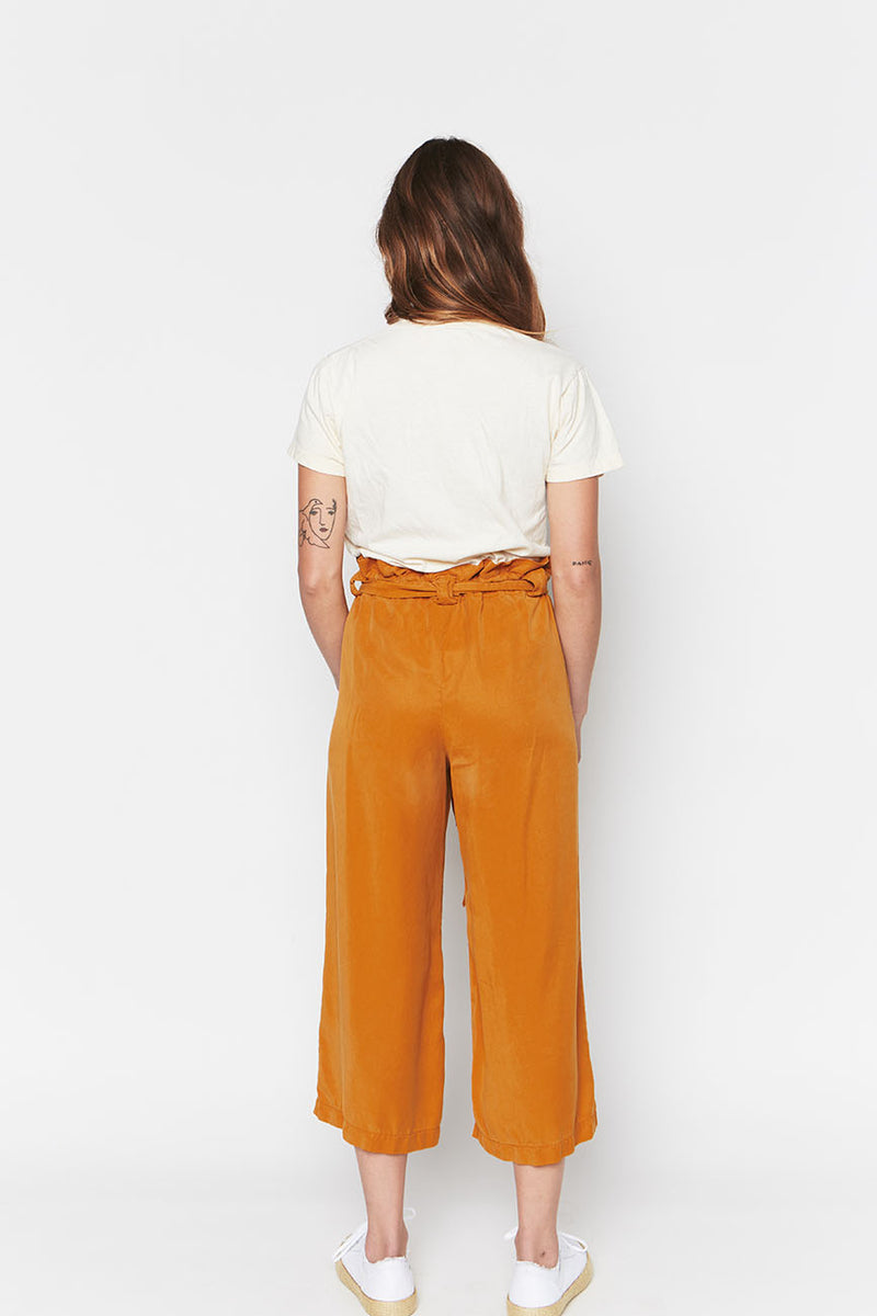 Ochre tencel pants 1