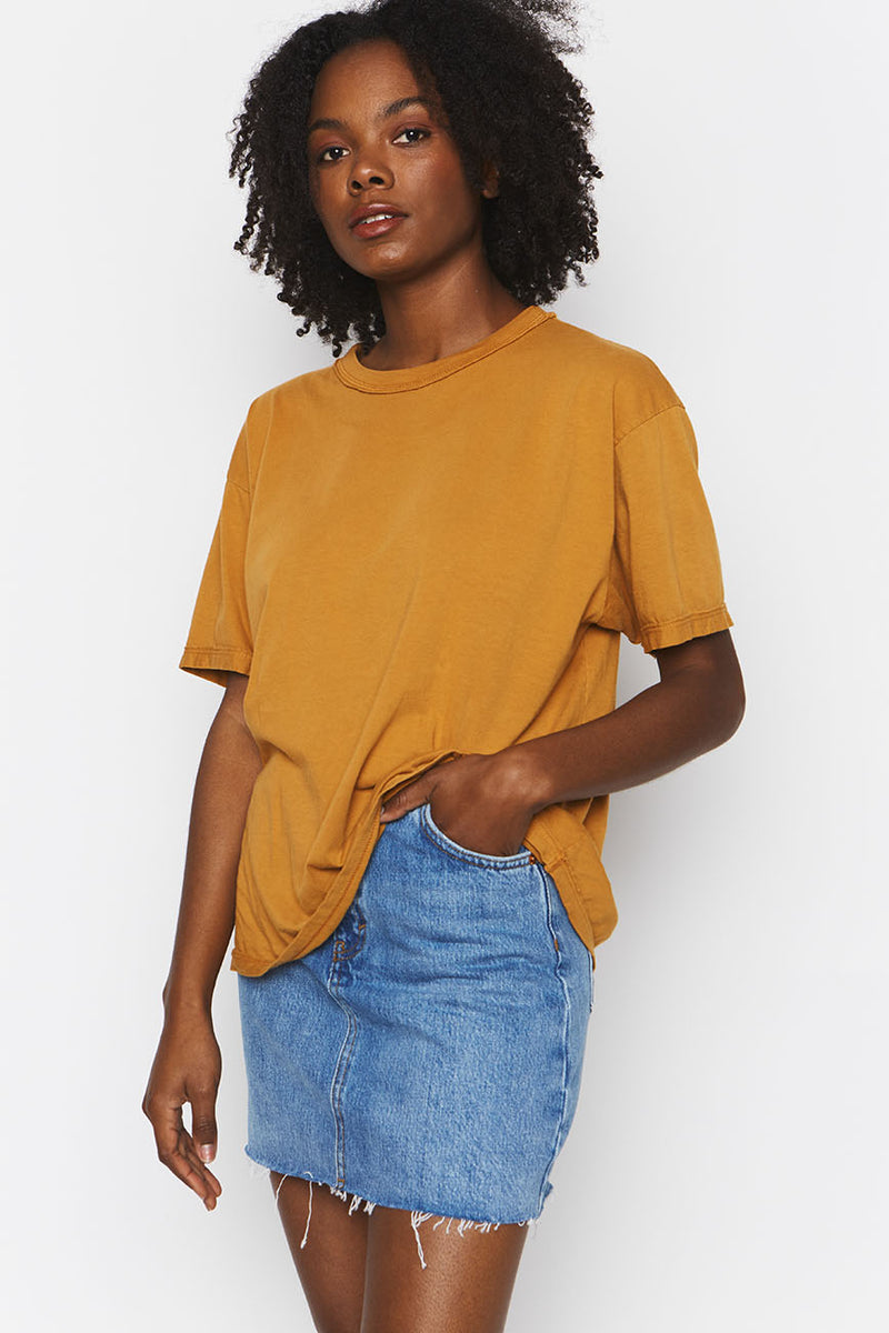 Ochre Organic Cotton Band Tee 2