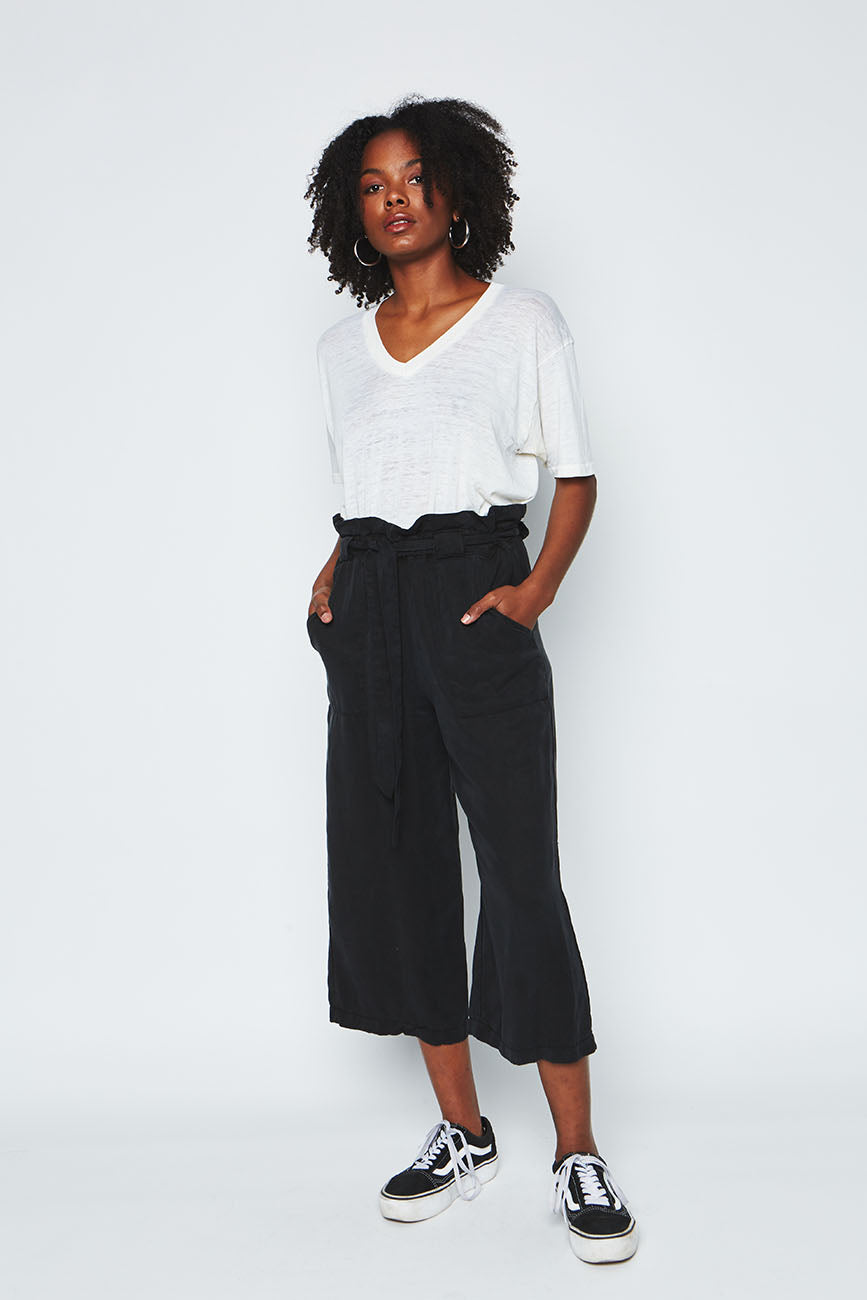 Black tencel pants 4