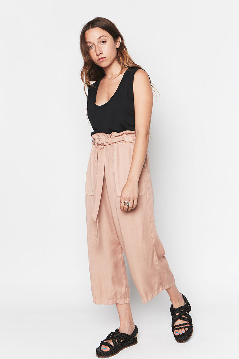 PINK TENCEL PANTS 4