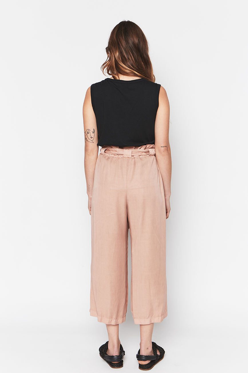 PINK TENCEL PANTS 1