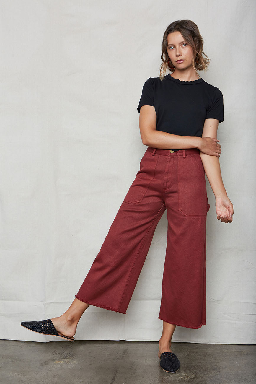 Wine Hemp Utility Pants - Back Beat Rags