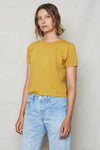 Golden Hemp Vintage Crop Tee - Back Beat Rags