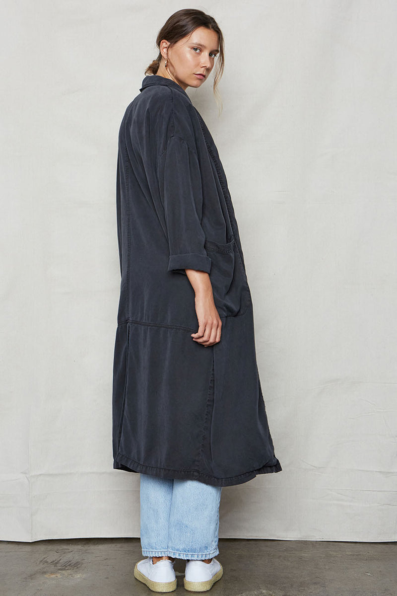 Vintage Black Tencel Easy Robe - Back Beat Rags