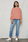 Dusty Pink Hemp Cut Off Sweatshirt - Back Beat Rags