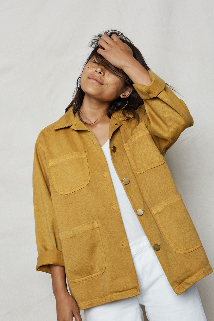 Golden Hemp Utility Jacket - Back Beat Rags