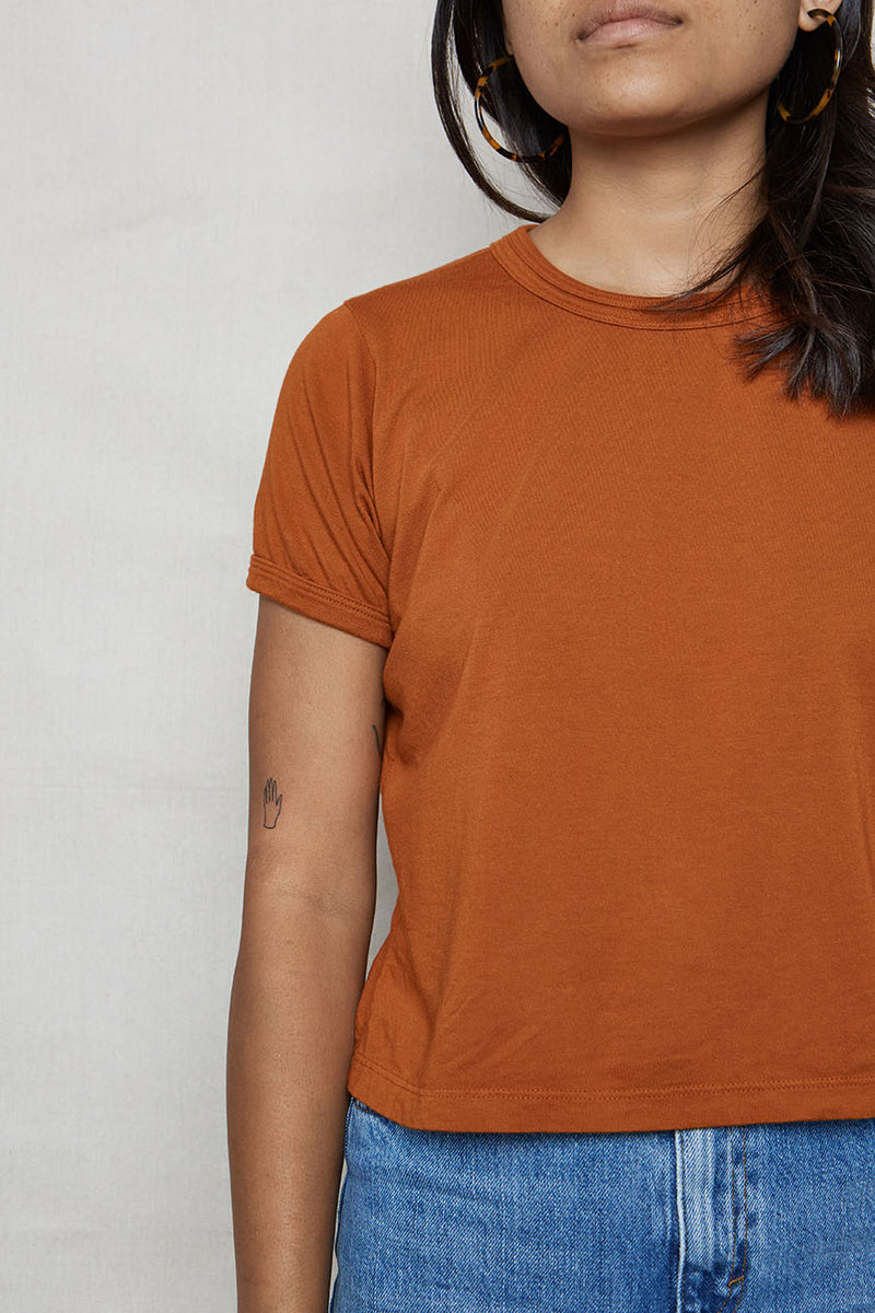 Ochre Hemp Vintage Crop Tee - Back Beat Rags