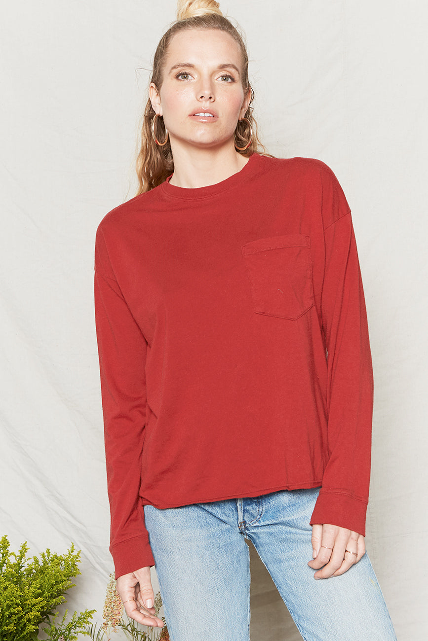 Hemp Pocket L/S Tee