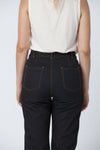 Organic cotton + Recycled Polyester Black Eco Twill Work Pants 1