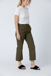 Organic cotton + Recycled Polyester Olive Eco Twill Work Pants 4