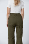 Organic cotton + Recycled Polyester Olive Eco Twill Work Pants 2