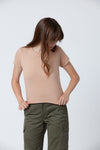 Hemp Nude Vintage Crop Tee - Back Beat Rags