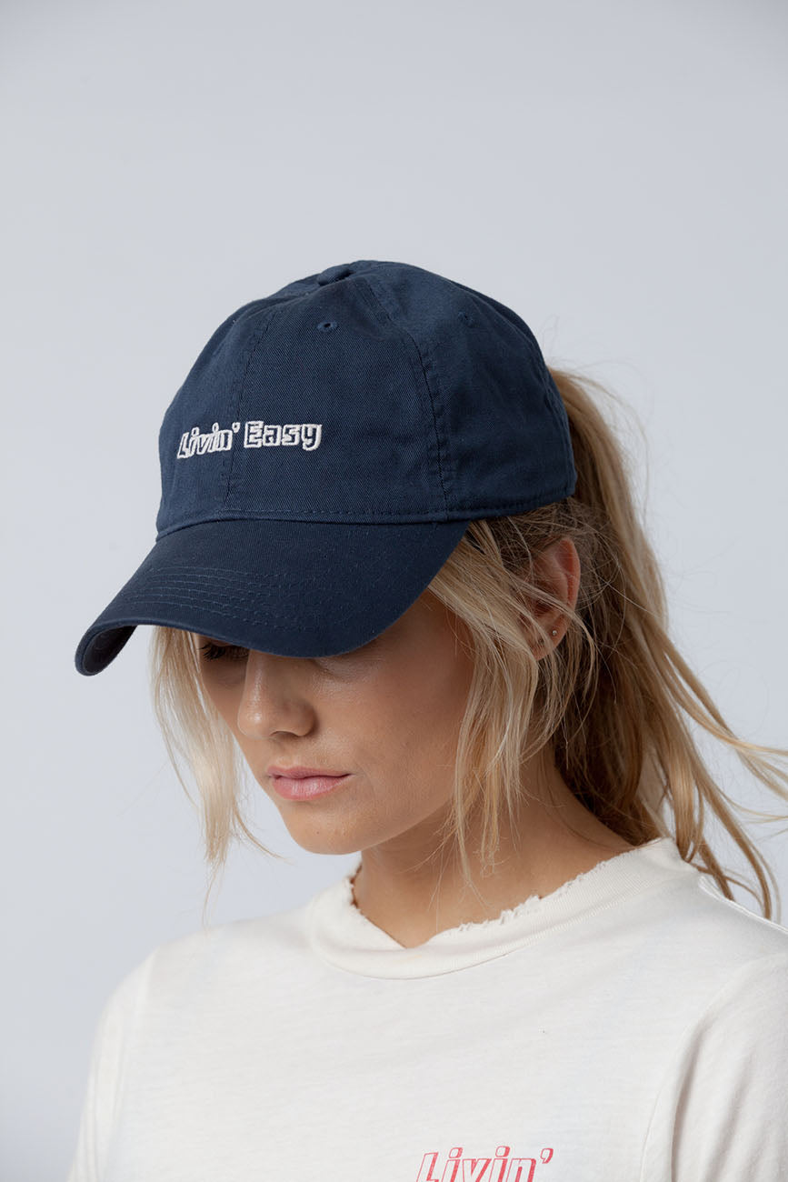 organic cotton hat blue