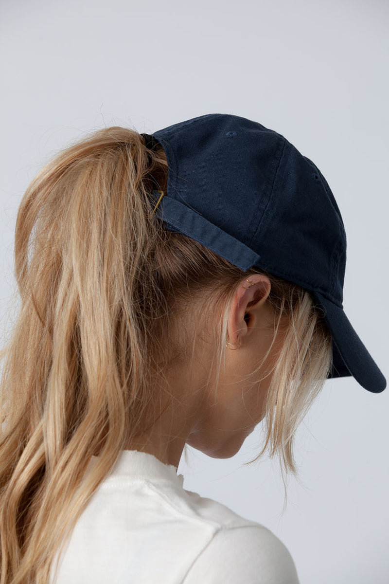 Blue Organic Cotton Hat 2