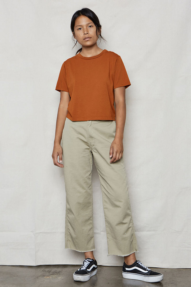 Ochre Hemp Crop Tee - Back Beat Rags