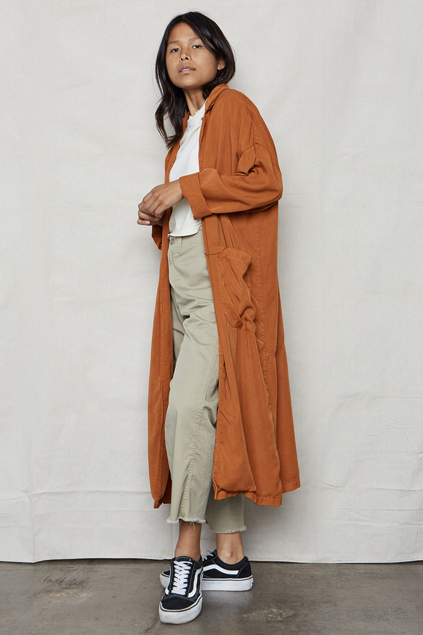 Ochre Tencel Easy Robe - Back Beat Rags