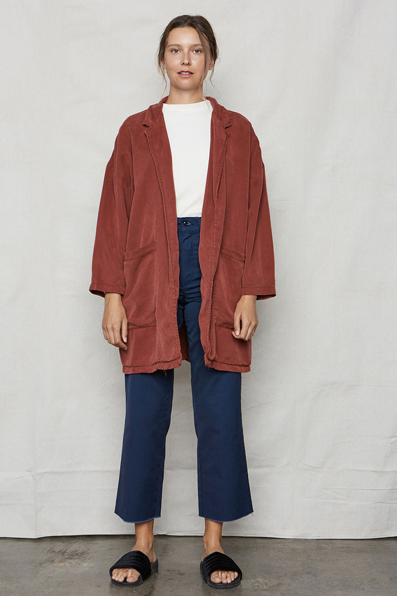Wine Tencel Easy Jacket - Back Beat Rags