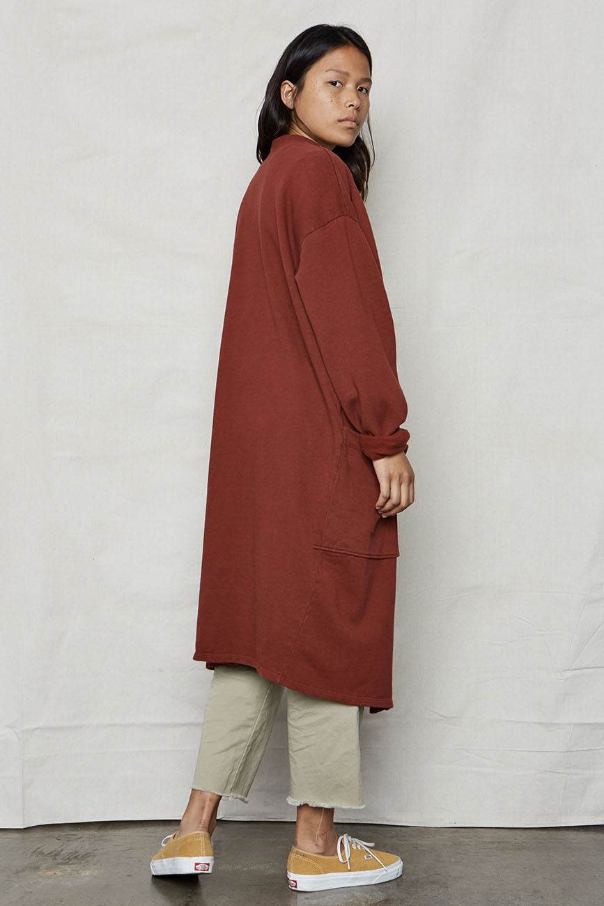 Wine Hemp Sweater Robe - Back Beat Rags