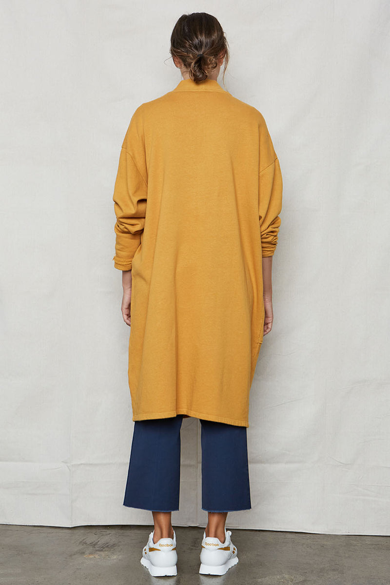 Golden Hemp Sweater Robe - Back Beat Rags