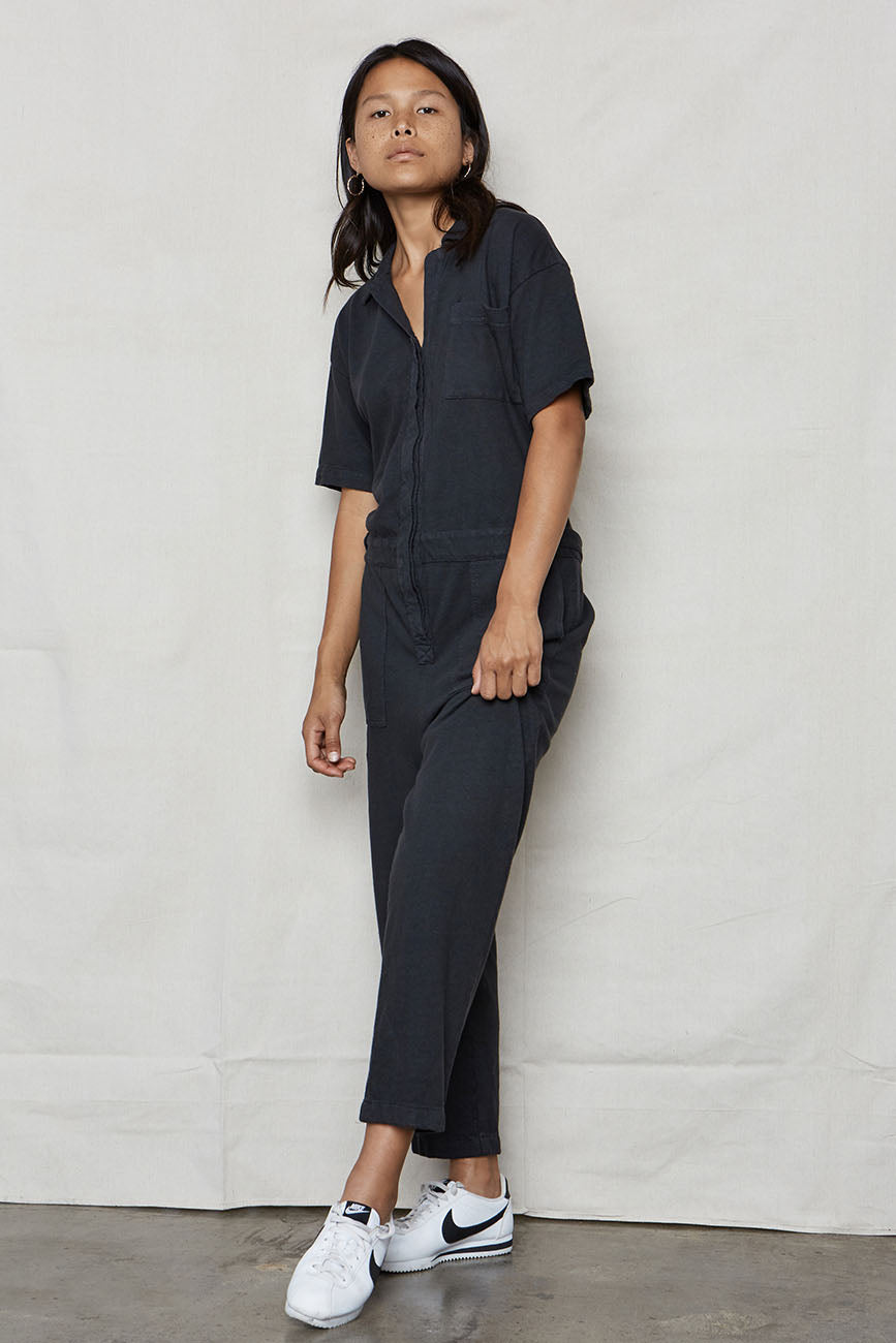 Vintage Black Hemp Boiler Suit