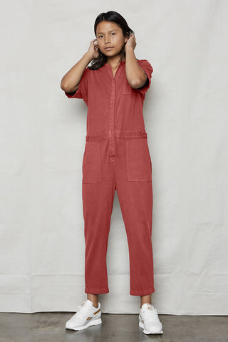 Stone Hemp Patch Reversible Jumpsuit