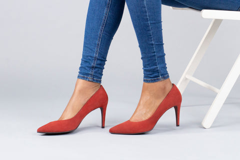 CoIX Shoes Soho Stiletto Autumn Brick Red