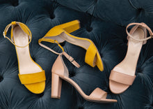 Load image into Gallery viewer, CoIX Shoes Monaco Block Heel Sandal Yellow Size 11, 12, 13, 9, 10, 44, 45, 46CoIX Shoes Monaco Block Heel Sandal Size 11, 12, 13, 9, 10, 44, 45, 46