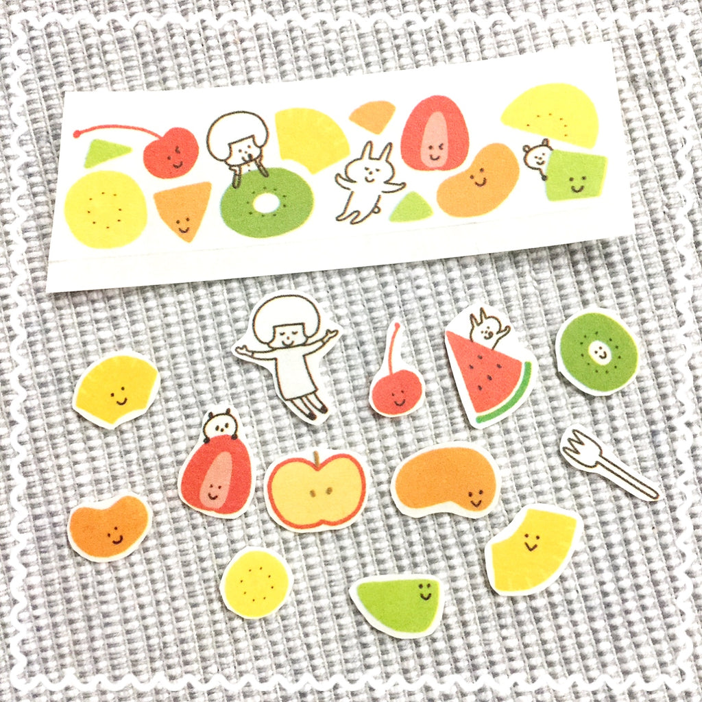 How do you make stickers from washi tape?