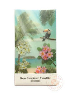 Appree nature scene sticker - Tropical day ANS-001