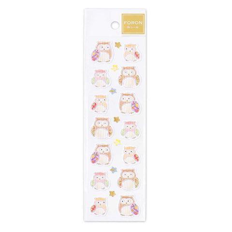 FORON gold foil sticker - Owl and star 1304106