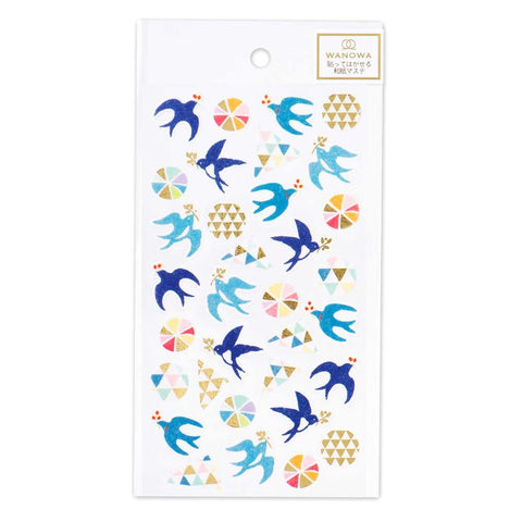 Wanowa gold foil washi sticker - Swallow 1354104