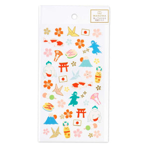 Wanowa gold foil washi sticker - Japan 1354109
