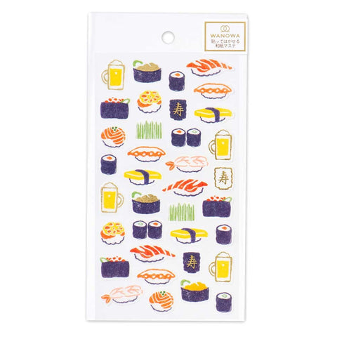 Wanowa gold foil washi sticker - Sushi 1354110