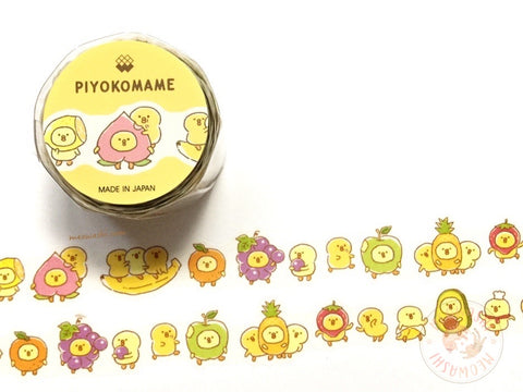 Mind Wave Piyokomame die cut washi tape - Fruits 92925