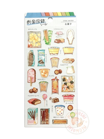 Mind Wave food cross section sticker - Snack 80639