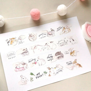 Touch my bunny washi tape