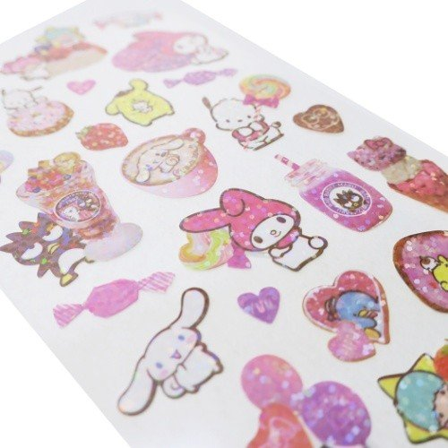 Kamio Collect like sparkle stickers - Sanrio characters 23917