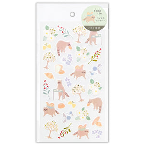 Yama Life gold foil sticker - Raccoon 2614104