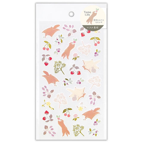 Yama Life gold foil sticker - Flying squirrel 2614105