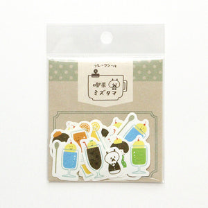 Papier Platz mizutama washi sticker flakes - Cafe drinks 35-668