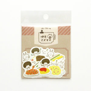 Papier Platz mizutama washi sticker flakes - Cafe food 35-669