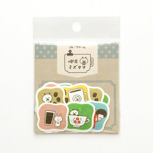 Papier Platz mizutama washi sticker flakes - Cafe 35-670