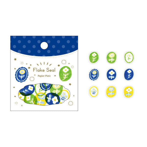 Papier Platz kurogoma washi sticker flakes - Flower 37-845