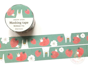 Papier Platz Hal-mono - Strawberry washi tape 37-873