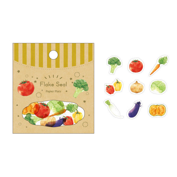 Papier Platz moriyue washi sticker flakes - Vegetable 50-622