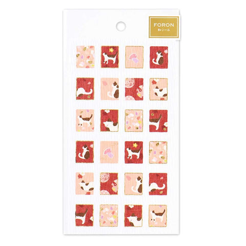FORON gold foil sticker - Cat and Sakura 5074135