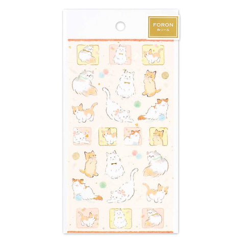 FORON gold foil sticker - Playful kittens 5074149
