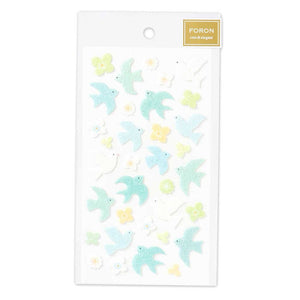 FORON fluffy sticker - Swallow and flower 5214111