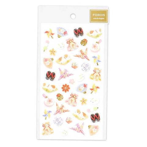 FORON gold foil fluffy sticker - Japan items 5214113