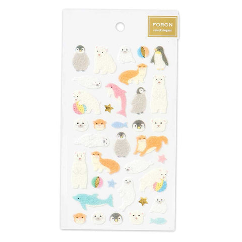 FORON gold foil  fluffy sticker - Aquatic animal 5214122